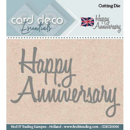 Card Deco - Happy Anniversary
