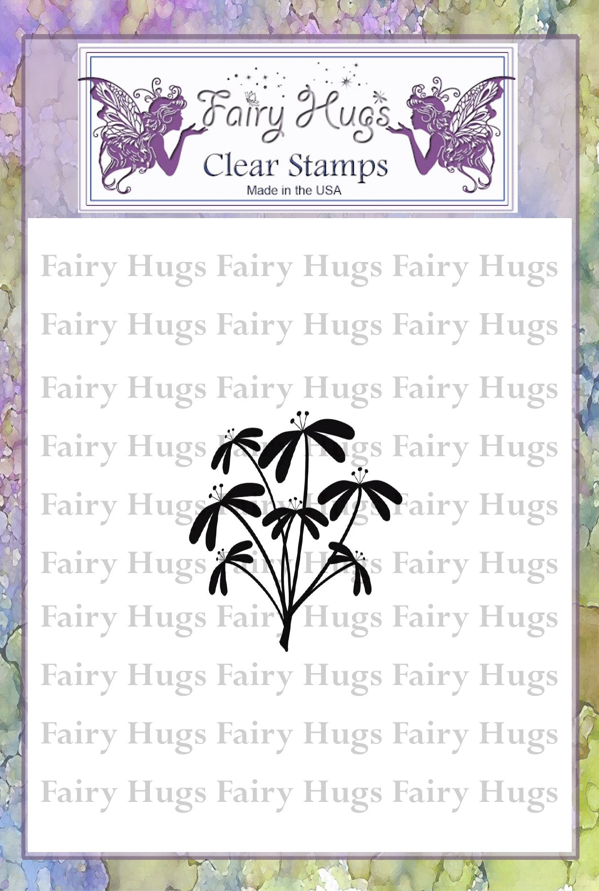 Fairy Hugs Stamps - Whimsical Flower Cluster