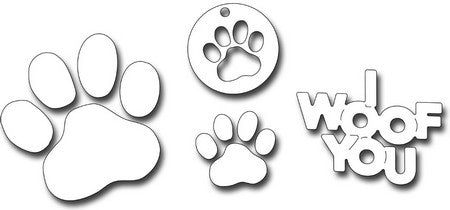 Frantic Stamper - Dog Paw Print Set
