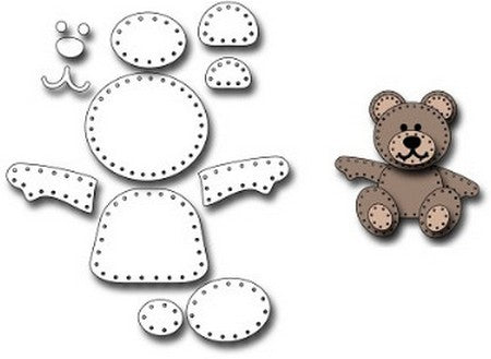 Frantic Stamper - Felt Teddy Bear Parts