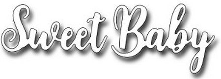 Frantic Stamper - Brush Script Sweet Baby