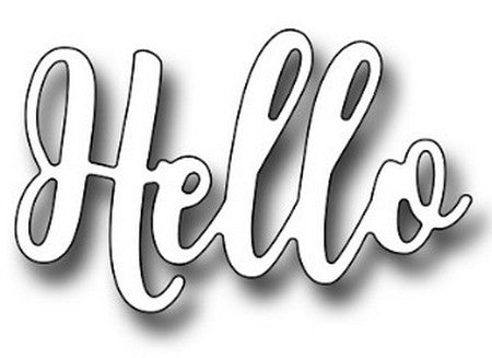 Frantic Stamper - Brush Script Hello
