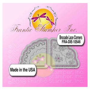 Frantic Stamper - Brocade Lace Corners