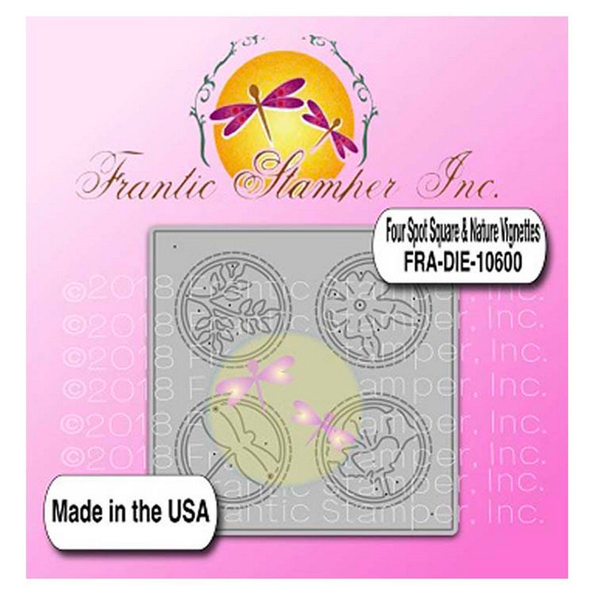 Frantic Stamper - Four Spot Square & Nature Vignettes