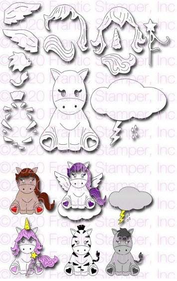 Frantic Stamper - Dies - Cute Equine & Friends