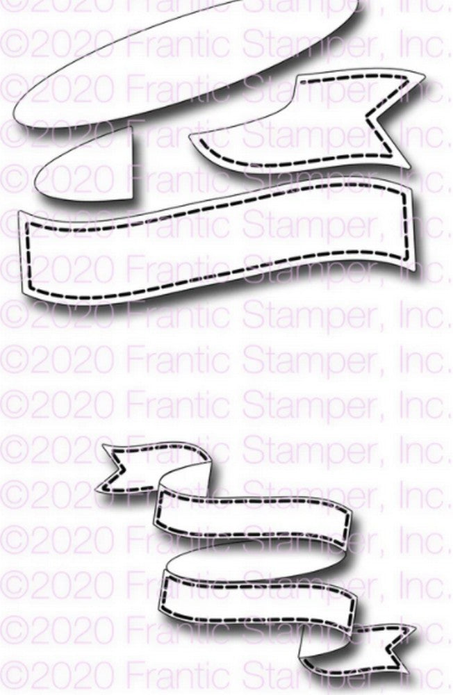 Frantic Stamper - Dies - Stacked Banner Builder