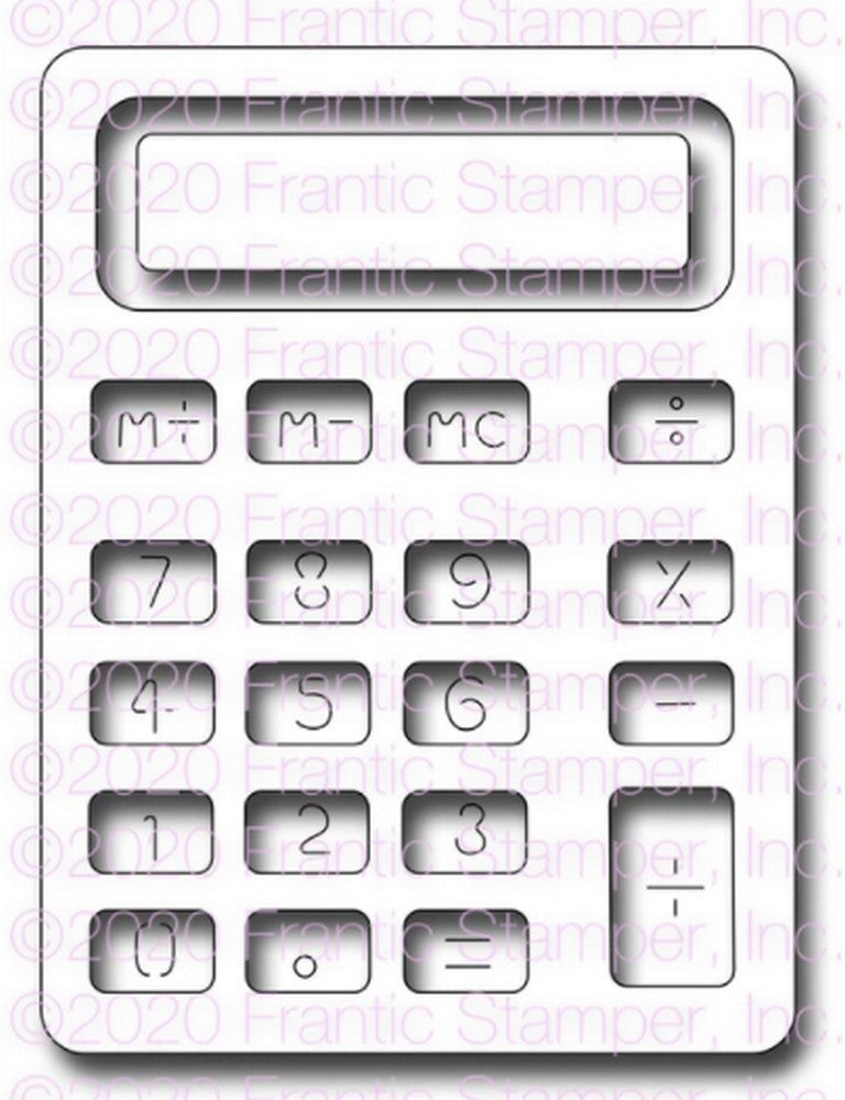 Frantic Stamper - Dies - Big Calculator