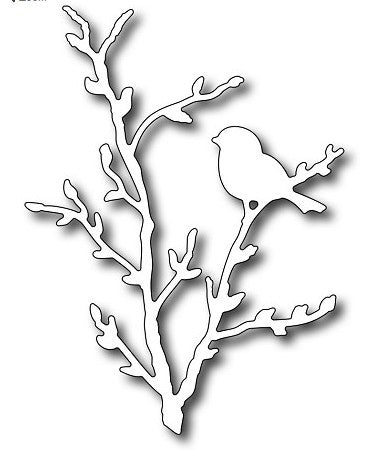 Frantic Stamper - Bird On Pussywillow Branch