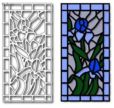 Frantic Stamper - Iris Stained Glass