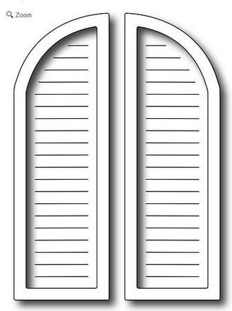 Frantic Stamper - Arched Window Shutters