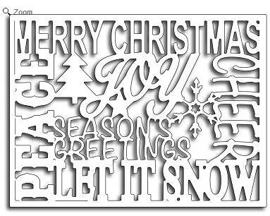 Frantic Stamper - Christmas Words Card Panel