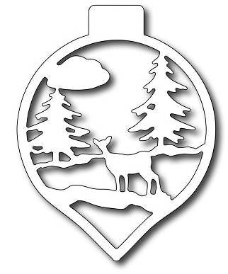 Frantic Stamper - Deer In Woods Ornament