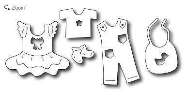 Frantic Stamper - Baby Clothes Icons