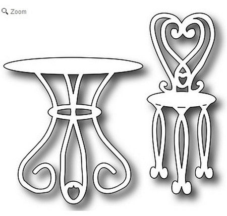 Frantic Stamper - Bistro Table & Chairs