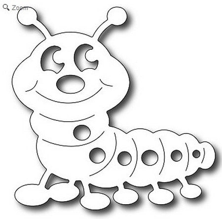 Frantic Stamper - Cute Caterpillar