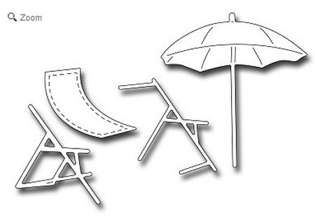 Frantic Stamper - Beach Umbrella & Chair