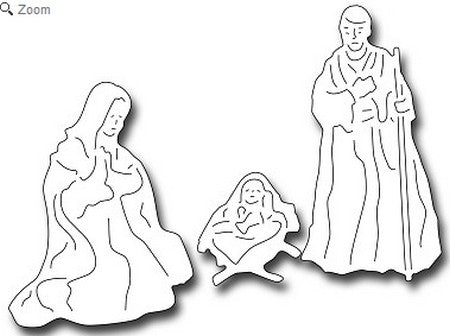 Frantic Stamper - Jesus, Mary, and Joseph