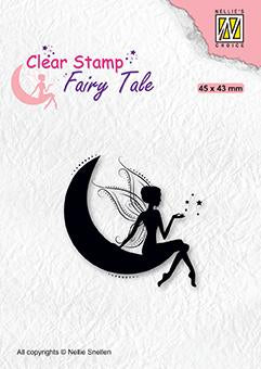 Nellie's Choice - Clear Stamp - Elf On Moon