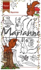 Marianne Design - Clear Stamps - Hetty's Squirrels