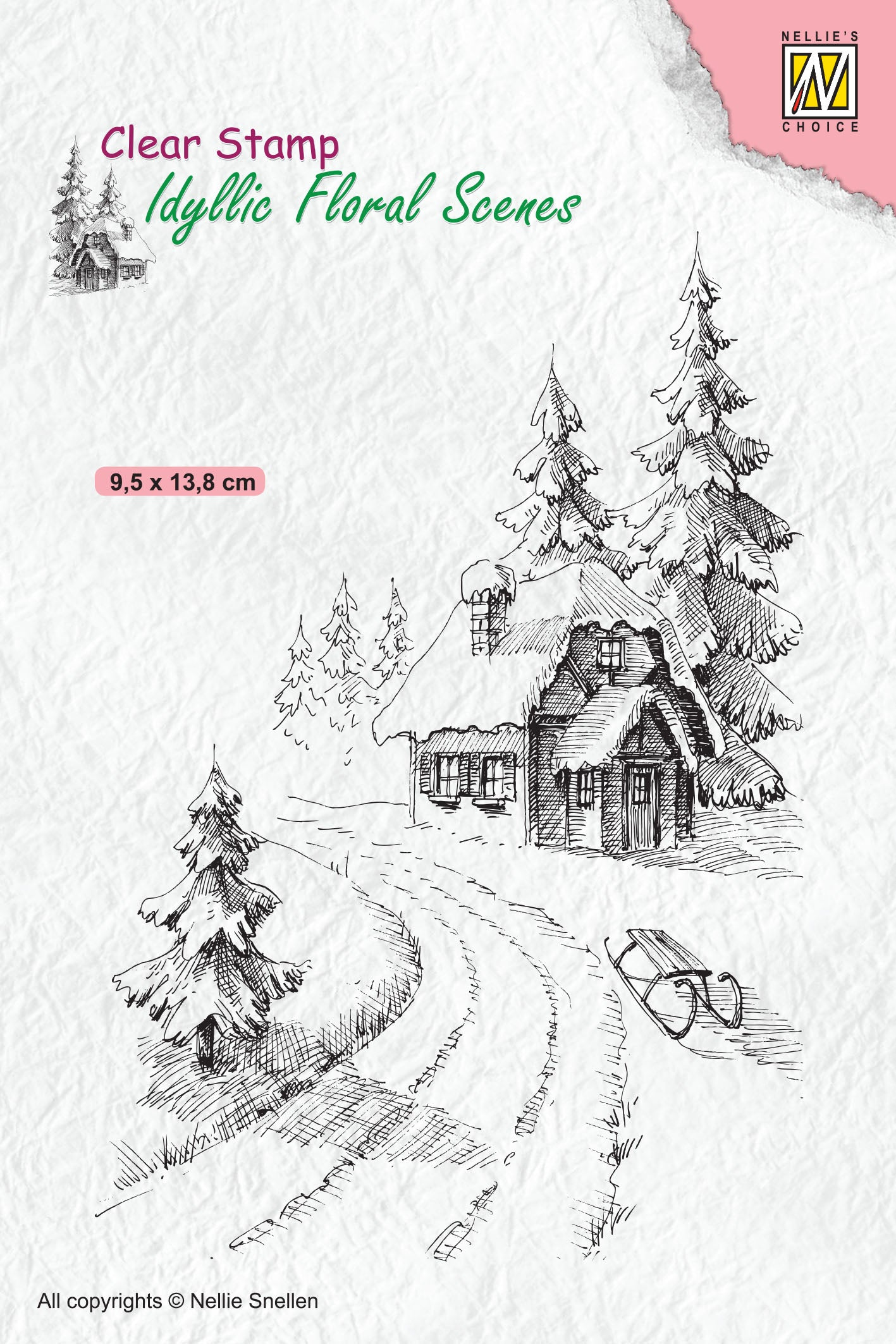 Nellie's Choice - Clear Stamp - Idyllic Wintery House