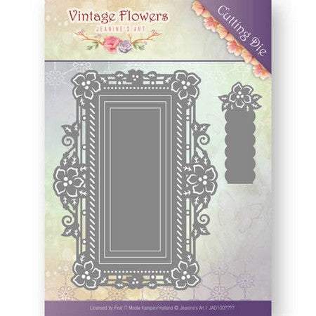Jeanine's Art - Vintage Flowers - Floral Rectangle