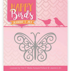 Jeanine's Art - Dies - Happy Birds Collection - Happy Butterfly