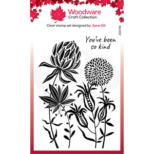 Woodware Craft Collection - Clear Stamps - Autumn Flowers
