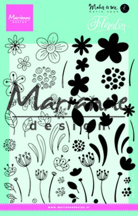 Marianne Design - Clear Stamps - Floralia
