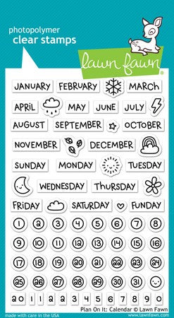 Lawn Fawn - Plan On It: Calendar Stamps