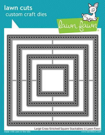 Lawn Fawn - Large Cross Stitched Square Stackables Dies