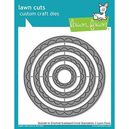 Lawn Fawn - Outside In Stitched Scalloped Circle Stackables Dies