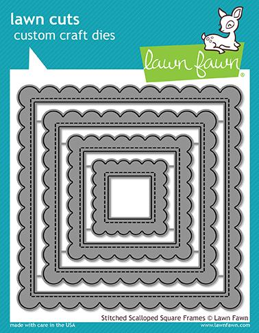 Lawn Fawn - Stitched Scalloped Square Frames Dies
