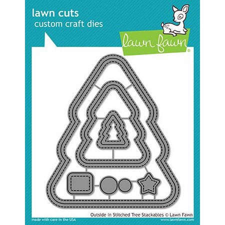 Lawn Fawn - Outside/In Stitched Christmas Tree Stackables Dies