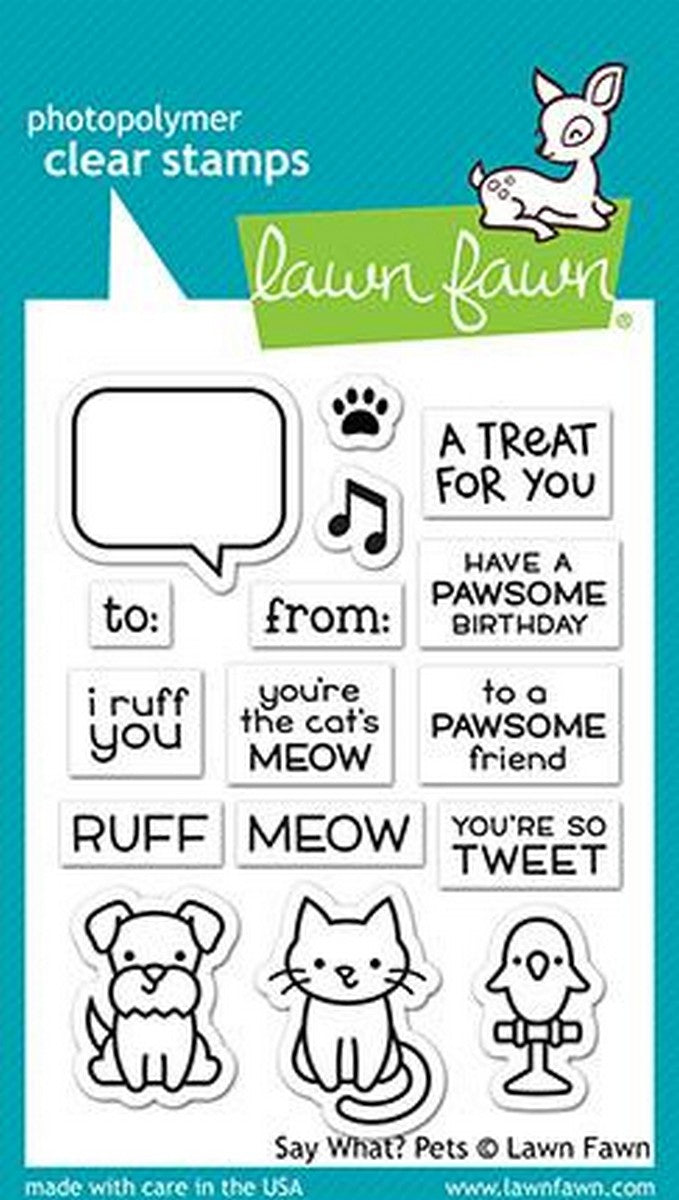 Lawn Fawn - Say What? Stamps