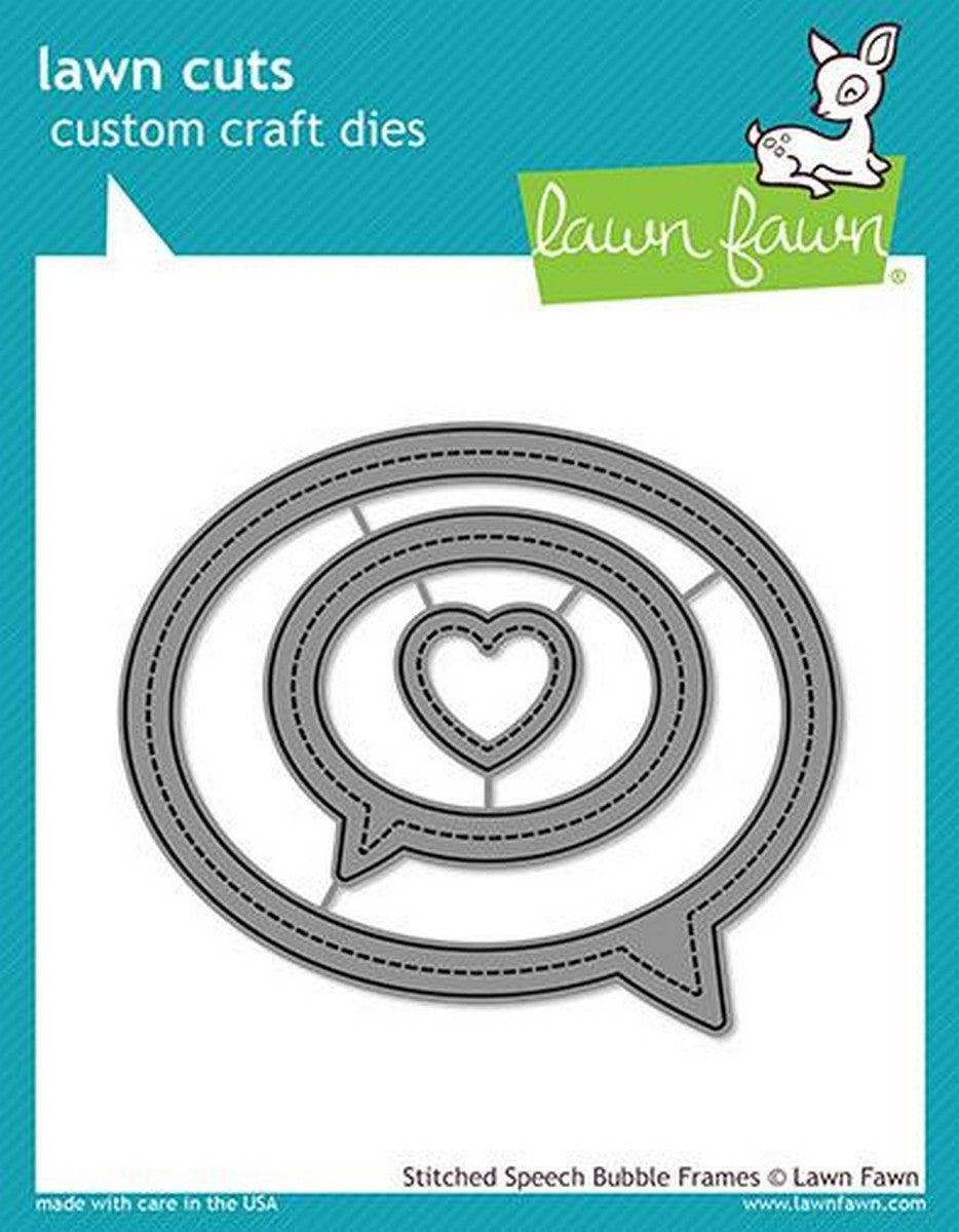 Lawn Fawn - Stitched Speech Bubble Frames Dies