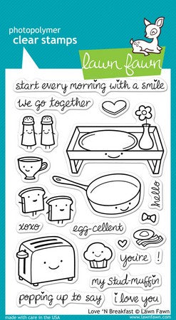 Lawn Fawn - Love 'n Breakfast Stamps