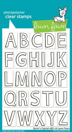 Lawn Fawn - Quinn's Capital ABCs Stamps