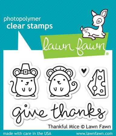 Lawn Fawn - Thankful Mice Stamps
