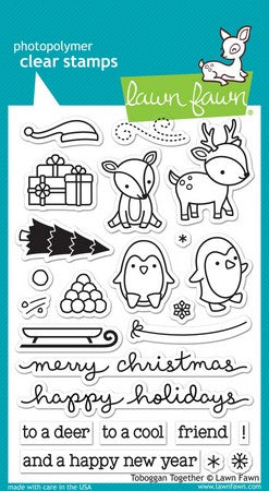 Lawn Fawn - Toboggan Together Stamps