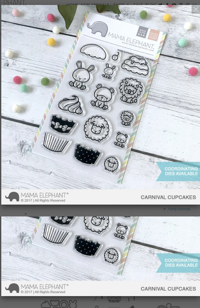 Mama Elephant - Carnival Cupcakes Stamps