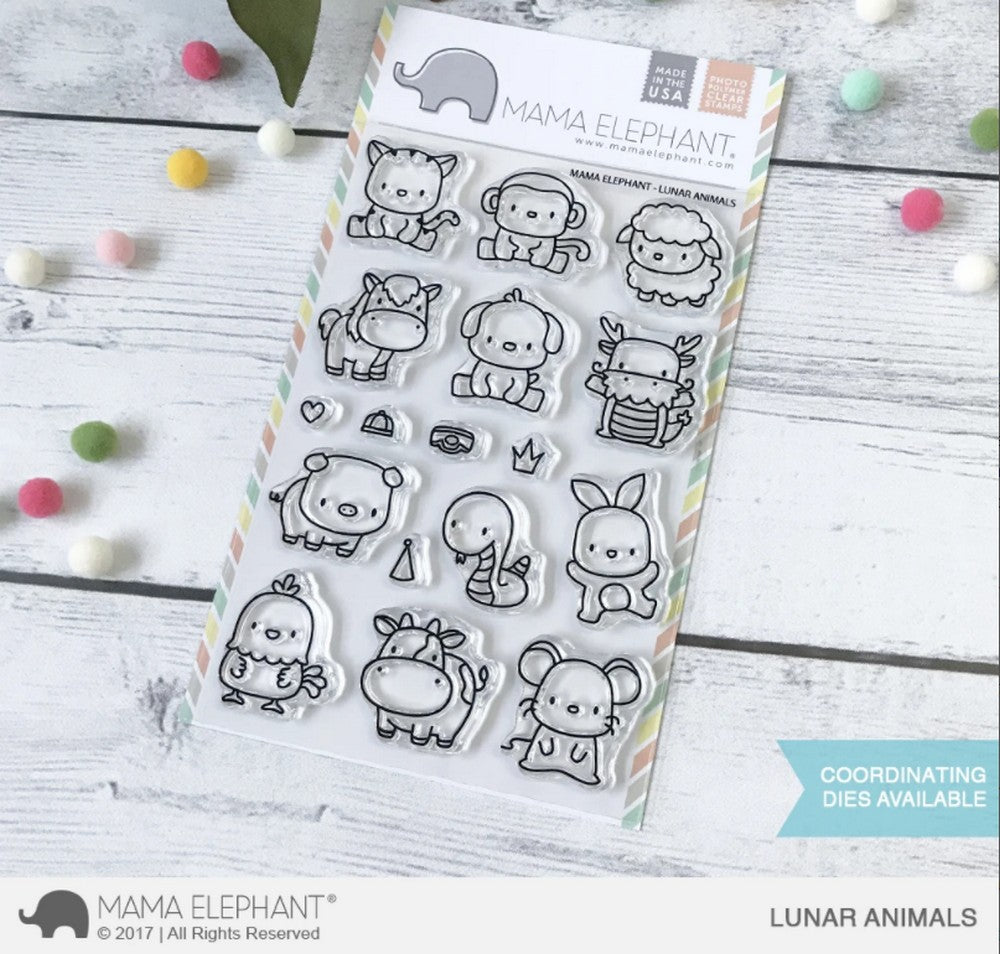 Mama Elephant - Lunar Animals Stamps