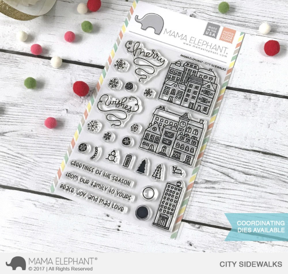 Mama Elephant - City Sidewalks Stamps