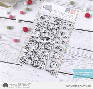 Mama Elephant - So Many Snowmen Stamps