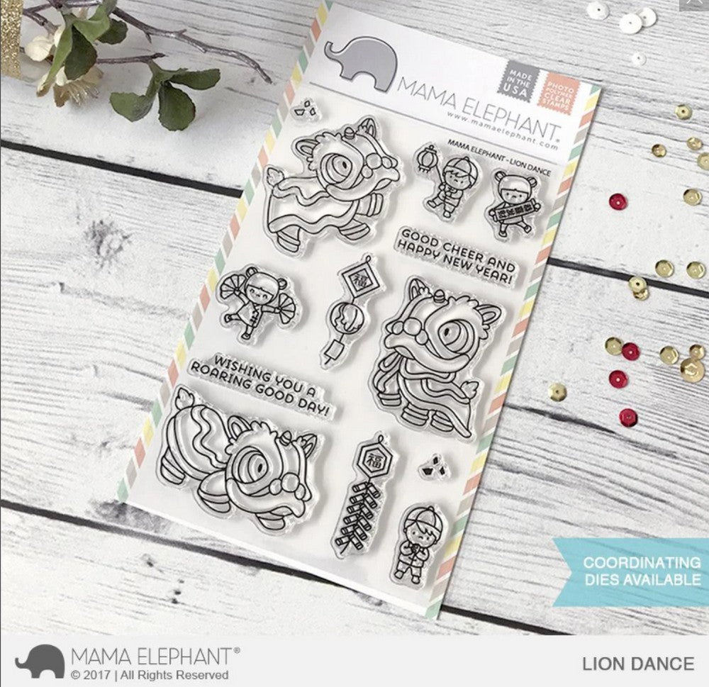 Mama Elephant - Lion Dance Stamps