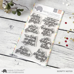 Mama Elephant - Scripty Notes Stamps