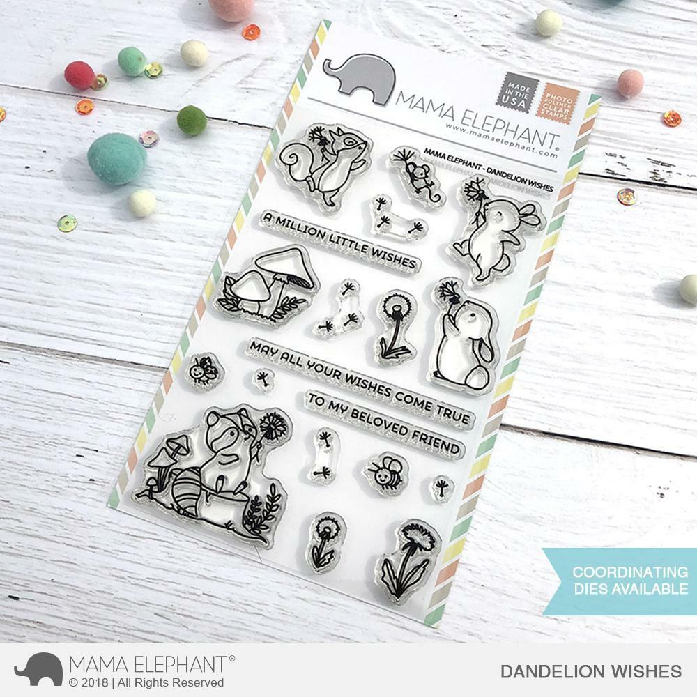 Mama Elephant - Dandelion Wishes Stamps