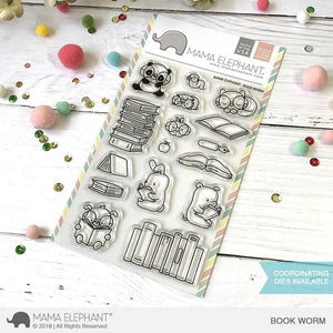 Mama Elephant - Book Worm Stamps