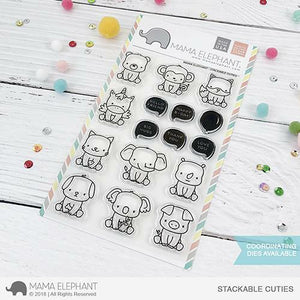 Mama Elephant - Stackable Cuties Stamps