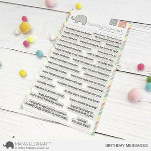 Mama Elephant - Birthday Messages Stamps
