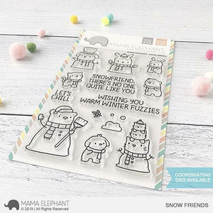 Mama Elephant - Snow Friends Stamps